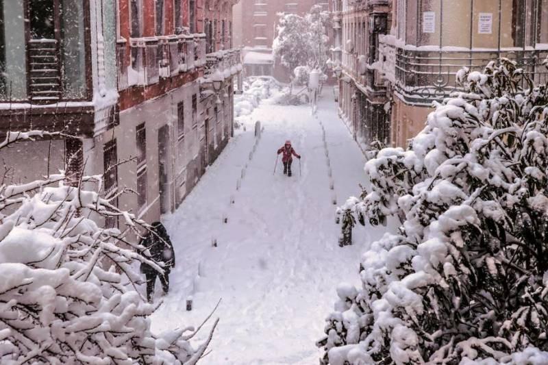 Синоптики объяснили морозы и снегопады в Испании в январе 2021 года