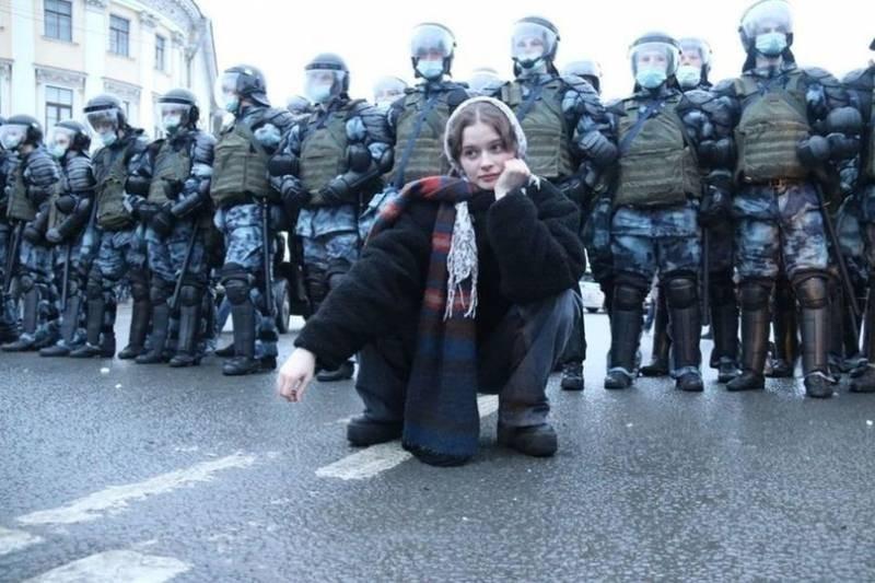 Полиция задержала активистов во время митинга 23 января 2021 года