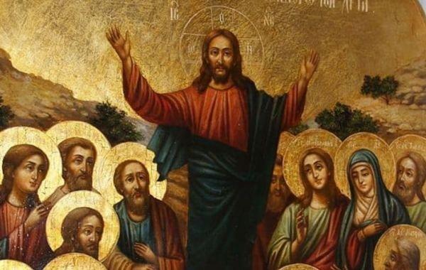 Православные верующие отмечают праздник Вознесение Господне
