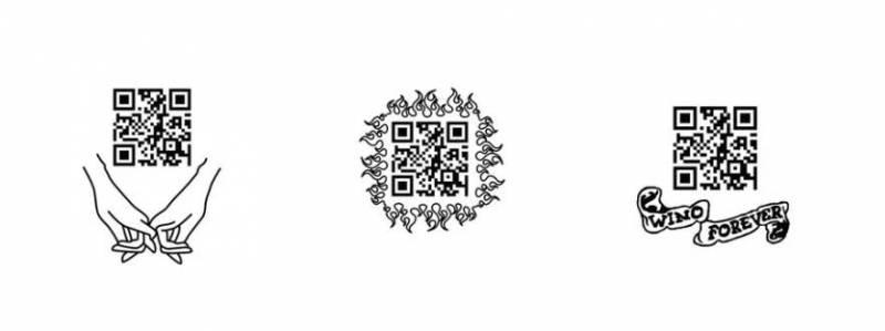 Москвичи могут делать временные татуировки с QR-кодами
