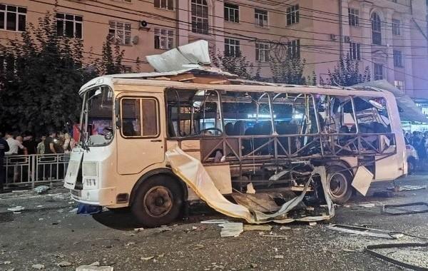 В Воронеже взорвался автобус