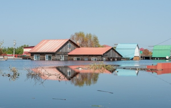 В Амурской области затопило дома из-за наводнения