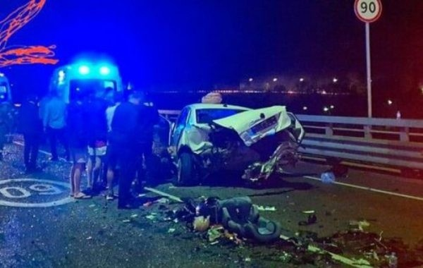 Появилось видео дорожной аварии с Ксенией Собчак
